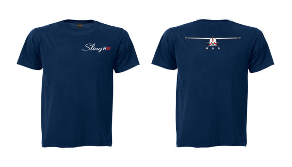 sling high wing large navy t shirt 2 side embroidered 600x344 - Sling 4 High Wing Two Side Embroidered Unisex Crew Neck T-Shirt